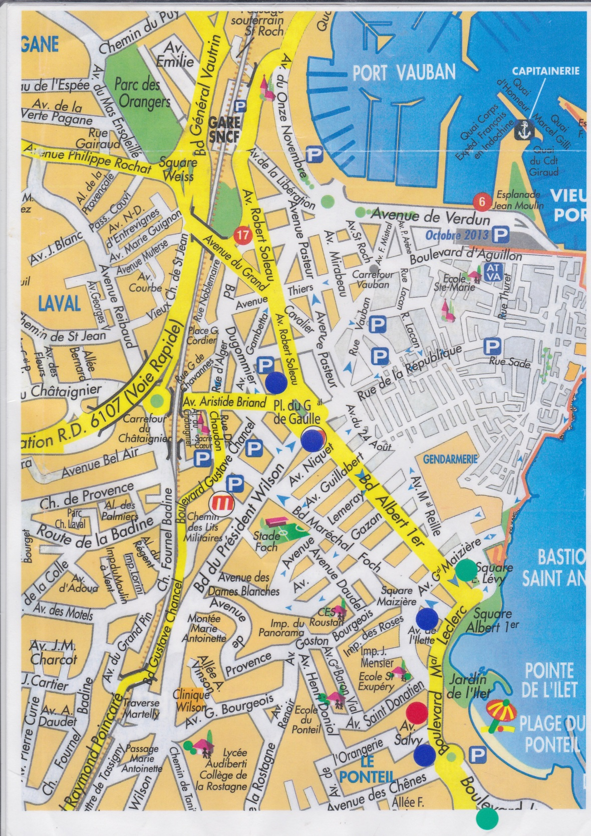 Karta Antibes